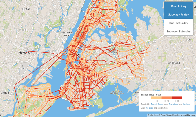 New York City Transit Frequency Visualization