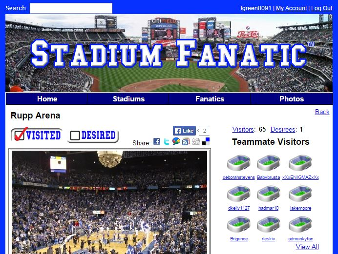Stadium Fanatic Social Network